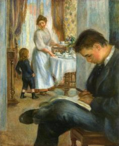 Pierre-Auguste Renoir (French 1841–1919) [Impressionism] Breakfast at Berneval, 1898. Private Collection.