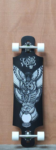 "Landyachtz 36.25"" Fiberglass Drop Hammer Longboard Complete"