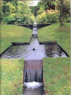 garden pool Shute House Gardens, Shaftesbury, Dorset designed by Jellicoe Garden Pool, Water Garden, Garden Landscaping, Landscape Architecture, Landscape Design, Jardin Decor, Water Features In The Garden, Garden Fountains, Dream Garden