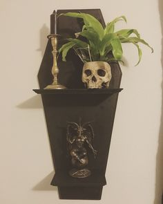 home decor Have a smaller Coffin Shelf Wall Hanging 36 Tall x 15 Wide. Has 2 Shel. Have a smaller Coffin Shelf Wall Hanging 36 Tall x 15 Wide. Has 2 Shelves that are 6 Depth. Available locally Only.