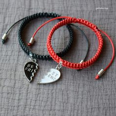 handmade_bracelet, #couple_bracelet, #pair_bracelet, #braided_bracelet, bracelet_shamballa, charm_bracelet, #friendship, #best_friend, red, white, black, #cord, jewellery, gift