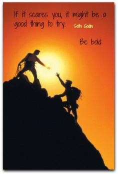 If it scares you, it might be a good thing to try.  Be bold.  Seth Godin
