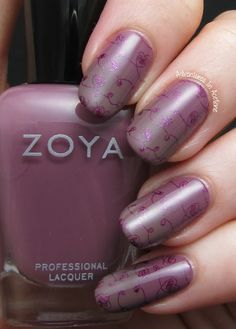 Zoya Naturel Nail Art! Odette and Normani Gradient, stamped with Zoya Carly and Moyou London Princess Plate 14
