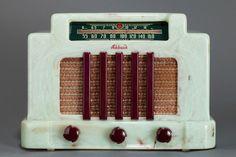 Addison 5 Catalin Radio 'Courthouse' Pistachio + Plum - Stunning