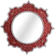 Marrakesh Dreams Decorative Wood Mirror - Wall Mirrors - Home Decor | HomeDecorators.com