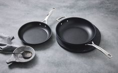 Toughened Non-Stick cookware by Le Creuset. A revitalised range of the classic Toughened Non-Stick cookware with a coating that is now 4x times stronger. The new coating makes for a one-time purchase, designed to withstand a lifetime of use. Iron Pan, Aluminium, It Cast, Design