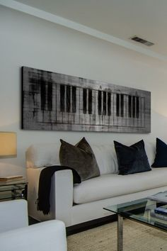 Brushed aluminum keyboard wall art. Boom. -D