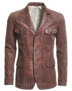 Leather Blazer - # 716 : MakeYourOwnJeans®: Made To Measure Custom Jeans For Men Women, Customize Jeans, Suits, Leathers Blazer En Cuir, Jeans En Cuir, Blazer Vest, Sweater Jacket, Rugged Style, Style Brut, Quoi Porter, Look Plus, Leather Blazer