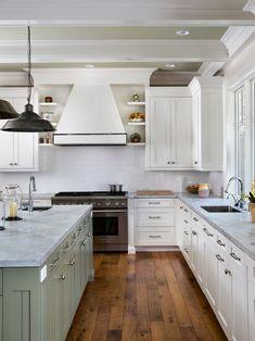 Markay Johnson Construction - kitchens - bleached walnut floors, walnut floors, hardwood floors, hardwood floors in kitchen, undermount sink...