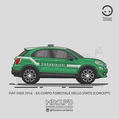 KombiT1: Fiat 500x - Corpo forestale dello stato Fiat 500x, Fiat Bravo, Lucky Colour, Jeep Renegade, Nissan 350z, Land Rover Defender, Audi A3, Bmw M3, Cars And Motorcycles