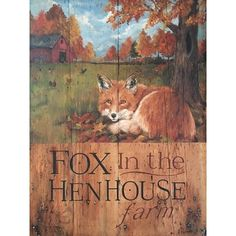 Winston Porter Fox in the House Wall Décor Starburst Wall Decor, Medallion Wall Decor, House Wall, Hen House, Wall Décor, Fox Collection, Storefront Signs, Autumn Scenes, The Fox And The Hound