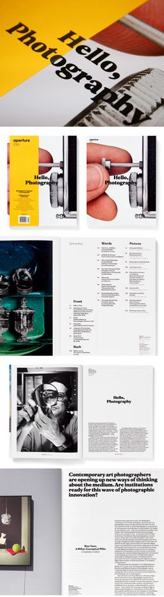Aperture Magazine, redesign, 2013Aperture Foundation, New YorkArt Direction, bespoke typefaces and design