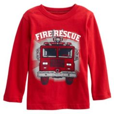 Jumping Beans Fire Rescue Tee - Toddler