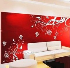 Butterfly flower--72inch--Home Art Removeable Butterfly Wall Decals floral Deco Mural Wall Vinyl decals WAll Stickers