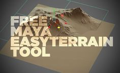 Easy Terrain is a script for creating terrain elements complete with tools for maps, sculpting, and subdividing great looking terrain models in Maya.