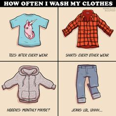 The moment you realize you don't even remember the last time you washed your jeans.