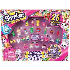 Allons magasiner! Bienvenue dans le monde de Shopkins! Les plus mignons personnages de vos boutiques préférées à collectionner! Créer une scène Shopkins! <br><br><li>Parce que c'est le magasinage en folie!</li><li>inclut des shopkins exclusif brillants!</li><li>2 shopkins cachés à l'intérieur!</li><li>Comprend: 26 shopkins, 1 guide du collectionneur.</li>