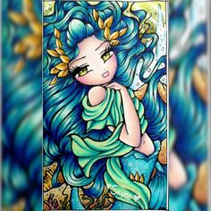 I LOVE everything about this one I need to get my colouring mojo back! #AtlantisMermaid #Underwater #BlueHair #EnchantedFaces…