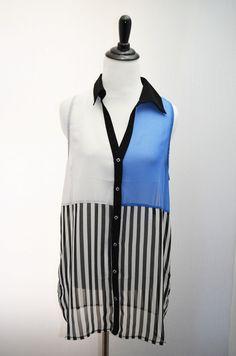 Striped Colorblock Top