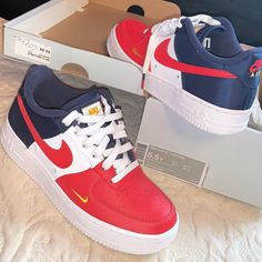 68fce57083 Nike Shoes | Nike Air Force 1 | Color: Red/White | Size: 5.5