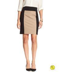 Banana Republic Womens Factory Colorblock Skirt Size 8 Petite - Black... ($60) ❤ liked on Polyvore