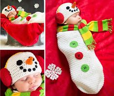 This crochet snowman cocoon pattern is hugely popular and it comes with a matching super cute crochet snowman hat with earmuffs.