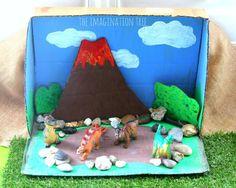 Dinosaur Crafts Kids, Dino Craft, Dinosaur Projects, Dinosaur Garden, Dinosaur Play, Dinosaur Activities, Dinosaur Small World, Small World Play, Dinosaur Diorama