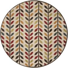 Surya MTR1016 Monterey Multi-Color Round Area Rug