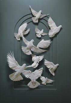 paper relief sculpture | Les sculptures sur papier de Calvin Nicholls sculpture papier 01
