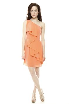 cascade ruffle dress, love it just in a different color