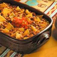 Taco casserole. Dont let the cottage cheese gross you out...its really good!