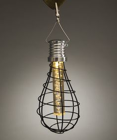 Another great find on #zulily! Solar Wire Cage Light Bulb Lantern & Warm White LED Bubble Tube #zulilyfinds@tonjaamen