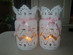 xxx Decorated Bottles, Diy Candles, Creative Decor, Needlework, Knitting, Handmade, Gifts, Recycled Glass, Floral