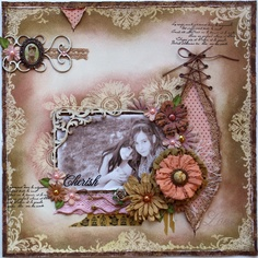 I want to make this page! (and I am not a scrapbooker!) Such a Pretty Mess: Resist Stamping with Bo Bunny Stamps!