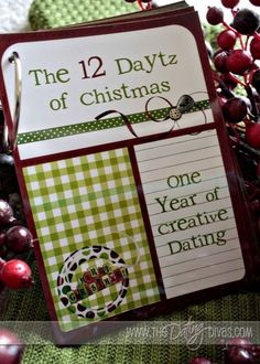 The 12 daytz of Christmas from the Dating Divas. This blog is amazing with tons of dating and family night ideas. This post includes a pdf printable to create this same idea for your true love.