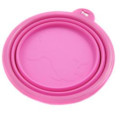 Alfie Pet by Petoga Couture - Ros Silicone Pet Expandable/Collapsible Travel Bowl - Size: 1.5 Cups, Color: Hot Pink - http://www.thepuppy.org/alfie-pet-by-petoga-couture-ros-silicone-pet-expandablecollapsible-travel-bowl-size-1-5-cups-color-hot-pink/