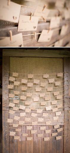 DIY Wedding seating cards