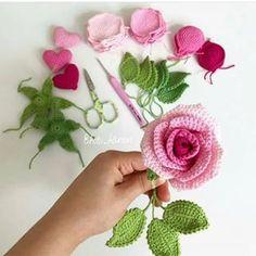 # knitting # knittingmodels # I love knitting # crochet … - Blumen Crochet Butterfly Free Pattern, Crochet Flower Tutorial, Crochet Flower Patterns, Crochet Designs, Crochet Flowers, Knitting Patterns, Crochet Chart, Crochet Motif, Irish Crochet