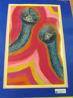 Mrs. Andersons Art Blog: Edward and Edwina the Australian Emus