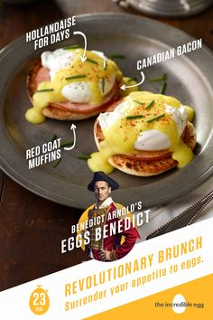 Benedict Arnold's Eggs Benedict Egg Recipes, Brunch Recipes, Breakfast Recipes, Cooking Recipes, Healthy Recipes, Recipies, Hollandaise Sauce, Breakfast Time, Food For Thought