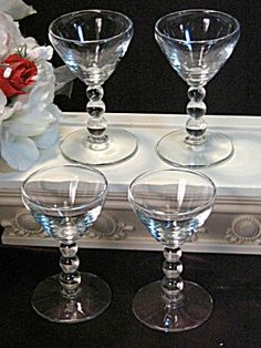 Imperial Glass Candlewick Cordial or Cocktail Glass Set. Click on the image for more information.