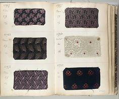 Textile Sample Book    Date:      1881 (?)  Culture:      French Met Museum