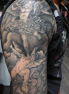#tattoo #sleeve #angels Creative Inspiration, Angels, Sleeve Tattoos, Artist, Sleeves, Creativity, Tattoo Sleeves, Artists, Angel