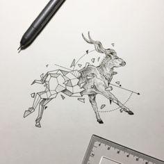 antilope ideas de disenos de tatuajes de animales