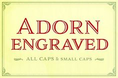 Adorn Engraved Smooth by Laura Worthington on @creativemarket