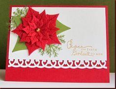 Christmas card - Spellbinders poinsettia dies