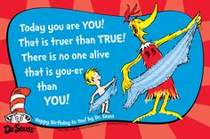 Dr Seuss - Happy Birthday to you! I am Me - My Unique Special Proposition