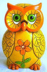 Vintage 1970's Owl Incense Burner