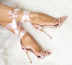 4a7439ce16 Sexy Blush Satin Strappy Lace Up Single Sole High Heels. Prom Heels, Sexy  High Heels, Dress And Heels, Lace Up Heels, Shoe