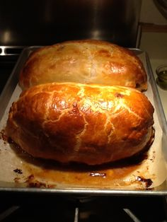 We wowed them w/ Beef Wellington, we used Tyler Florence's recipe.  This is a photo of our Beef Wellington, but I linked to recipe.